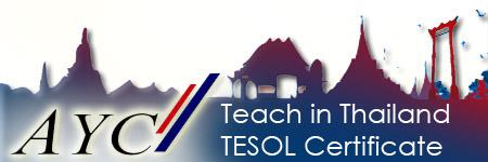 AYC INTESOL TESOL COURSE BANGKOK   Course Dates:  18 April – 6 May 2016