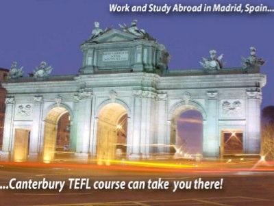 TEFL Certificate Program. Sunny, Exciting Madrid Spain.