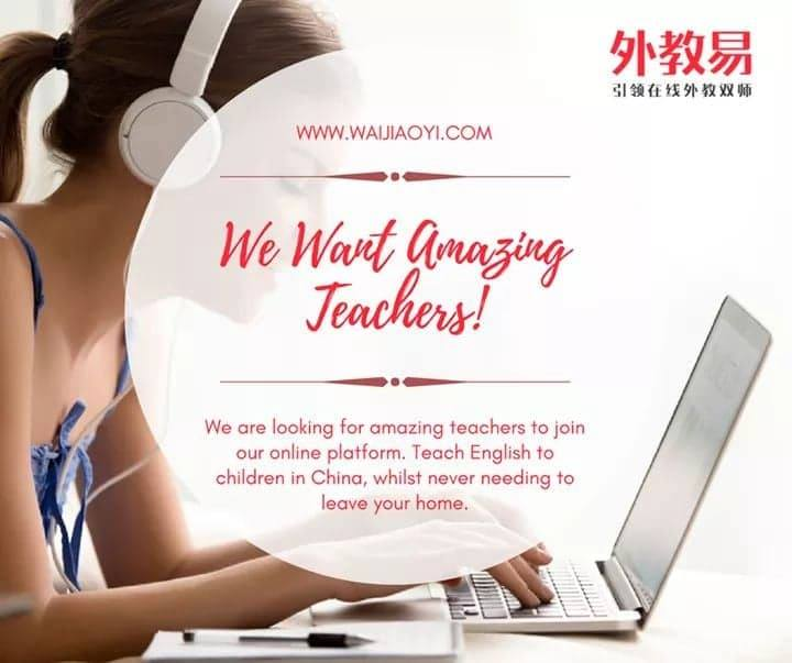 TEACH ENGLISH ONLINE - WORK FROM HOME