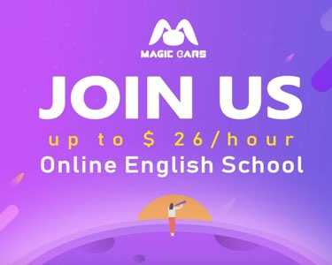 Work from home - Magic Ears - Online English Teacher
