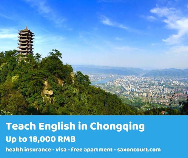 Teach English in one of the largest cities in the world, Chongqing
