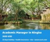 Academic Manager at the end of the silk road in Ningbo, China