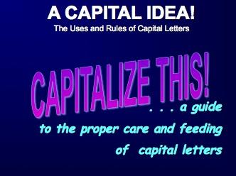 ELL ELT Lesson: Capitalization
